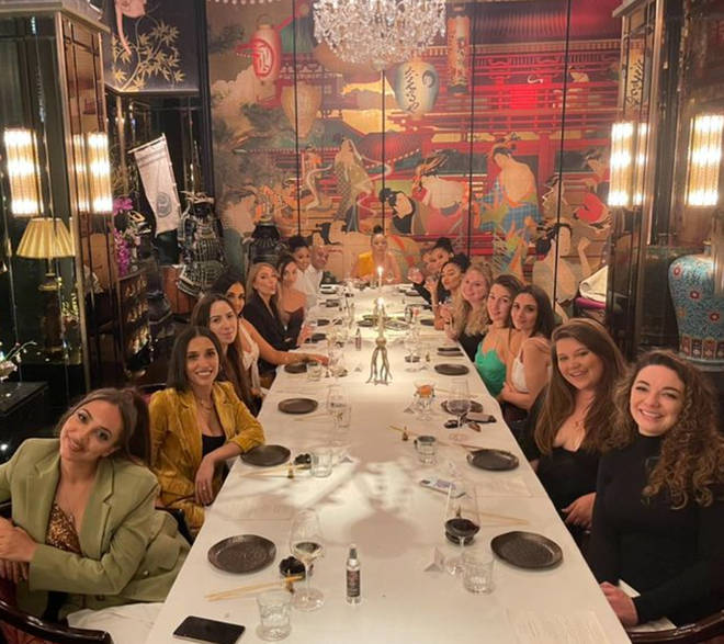 Leigh-Anne's circle of friends came out for her big night