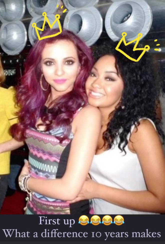 Jade Thirlwall also posted a 10-year-old pic of her and her bestie