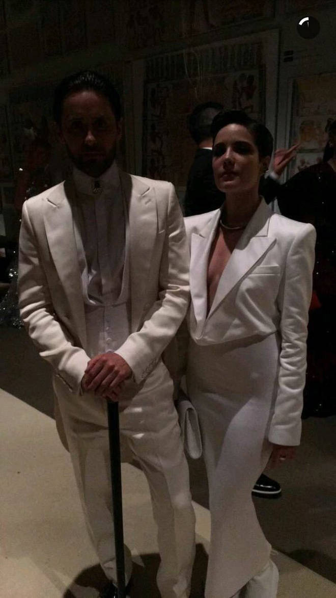 Jared Leto and Halsey.