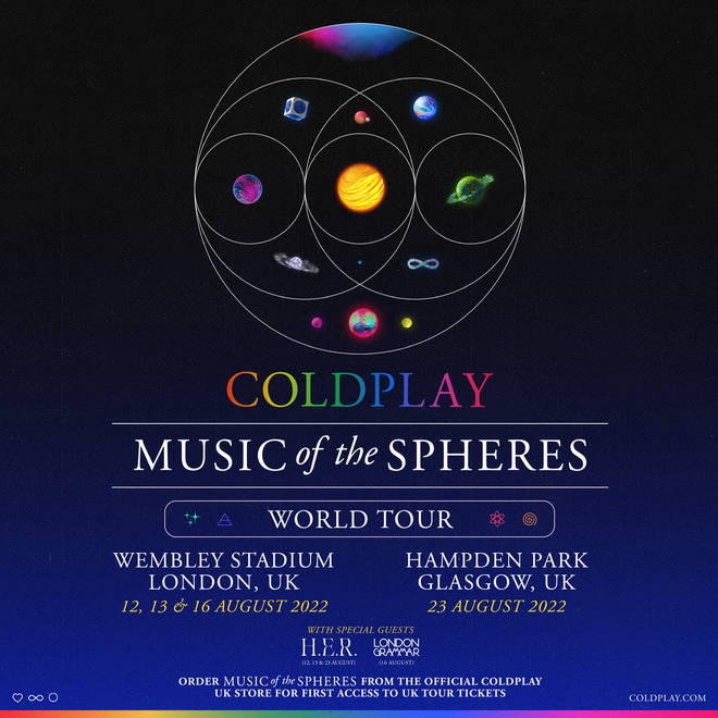 Coldplay are heading on 'Music of the Spheres' World Tour