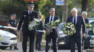 Boris Johnson left flowers with Sir Keir Starmer