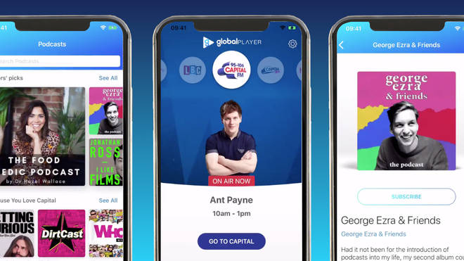 Capital's new app now allows you to listen to your favourite podcasts