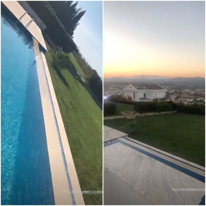 Kendall showed off her pool and view on Instagram Stories