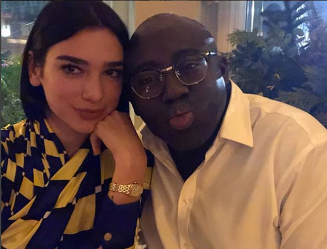 Dua Lipa with Vogue's Edward Enninful.
