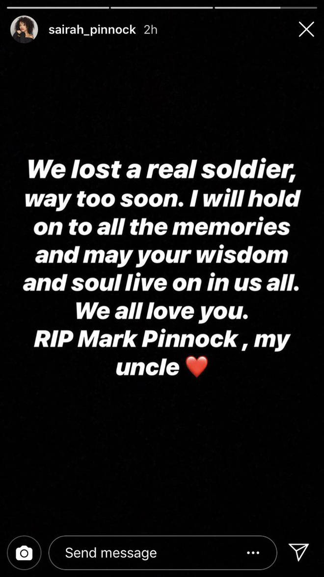 Leigh-Anne Pinnock's sister posted about the death of their uncle.