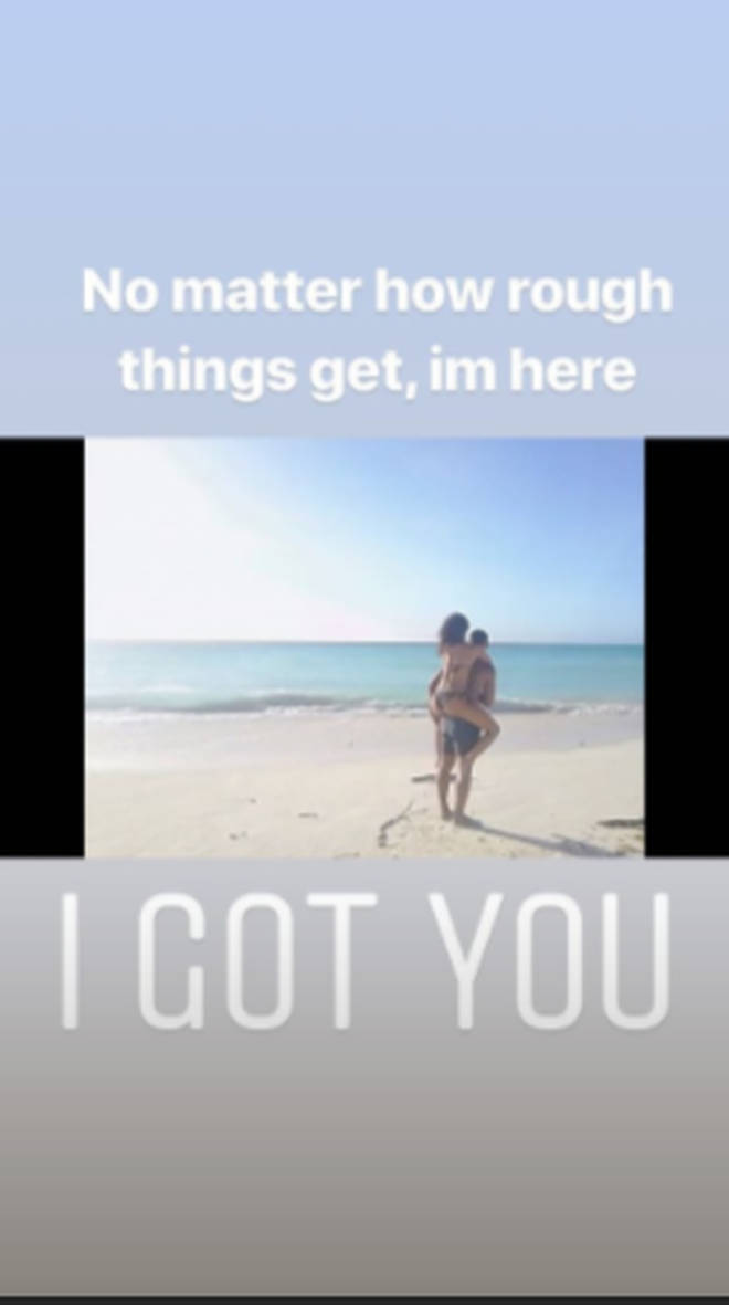 Andre Grey posted a heartfelt message to Leigh-Anne.