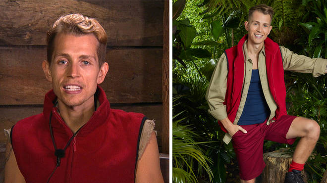 James McVey has been helping friend and campmate Harry Redknapp eat.