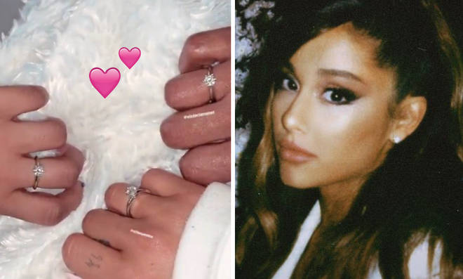 Ariana Grande treated her 7 best friends to diamond rings from Tiffany.