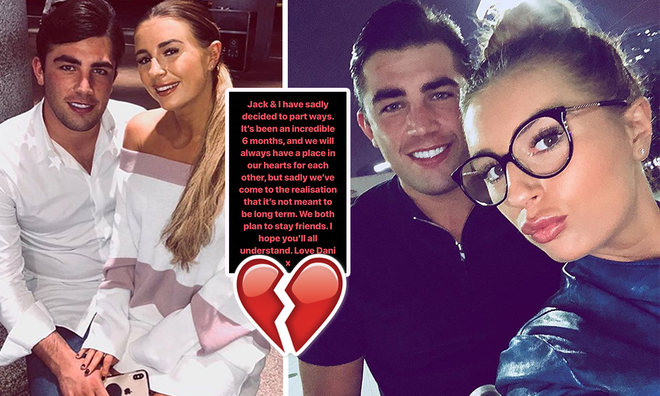Love Island's Jack Fincham and Dani Dyer confirm split