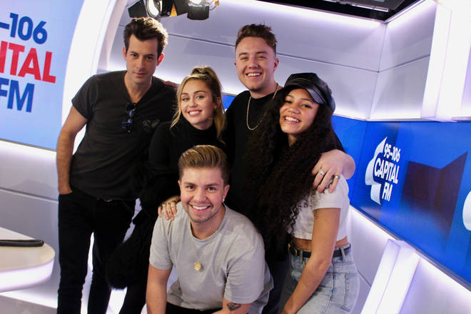 Miley Cyrus and Mark Ronson joined Roman Kemp, Vick Hope and Sonny Jay