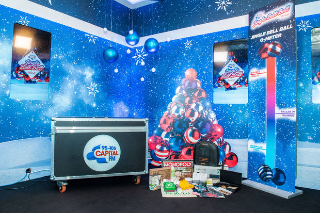 Our purpose built on air studio at the Jingle Bell Ball