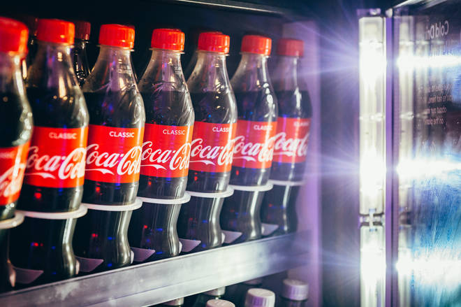 Coca-Cola fridges back stage at the Jingle Bell Ball
