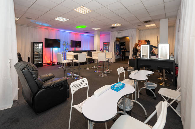 The Jingle Bell Ball green room has all kinds of luxurious treatments and refreshments
