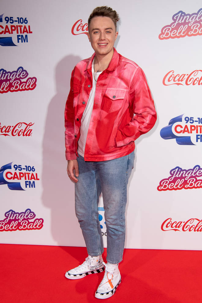 Roman Kemp on the red carpet at the Jingle Bell Ball 2018