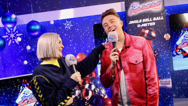 Anne-Marie joined Roman Kemp backstage at Capital's Jingle Bell Ball