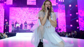 Ellie Goulding performs at Capital's Jingle Bell Ball 2018
