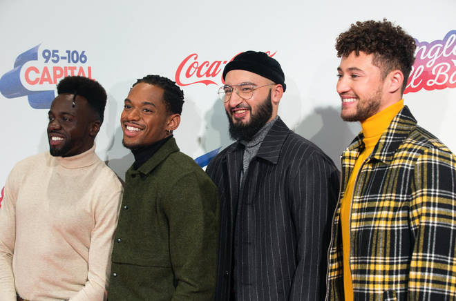 Rak-Su on the red carpet at the Jingle Bell Ball 2018