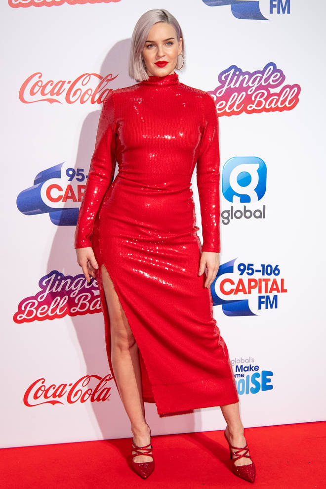 Anne-Marie on the red carpet at the Jingle Bell Ball 2018