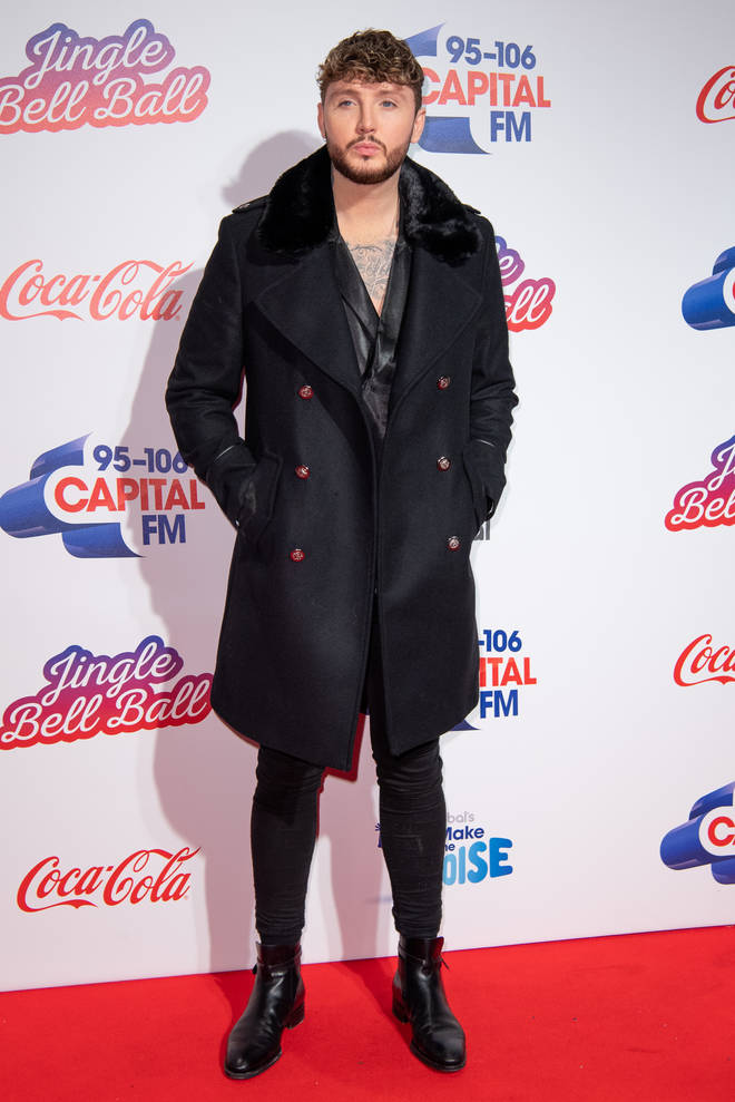 James Arthur on the red carpet at the Jingle Bell Ball 2018