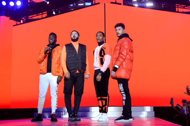Rak-Su on stage at the Jingle Bell Ball 2018
