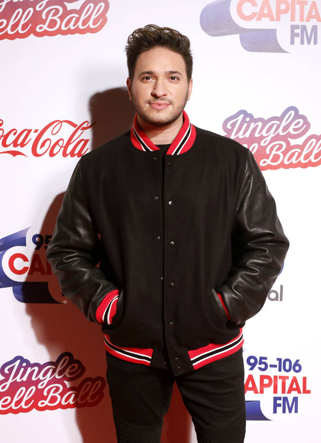 Jonas Blue on the red carpet at the Jingle Bell Ball 2018