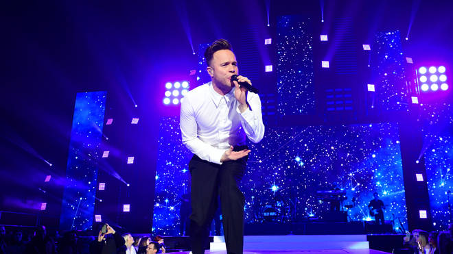 Olly Murs on Jingle Bell Ball stage