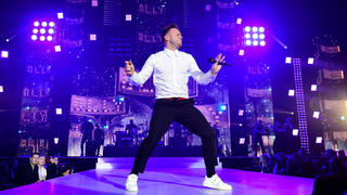 Olly Murs on stage at the Jingle Bell Ball 2018