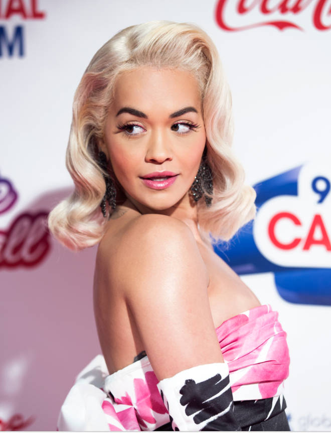 Rita Ora rocks a Moschino look at tonight's Jingle Bell Ball