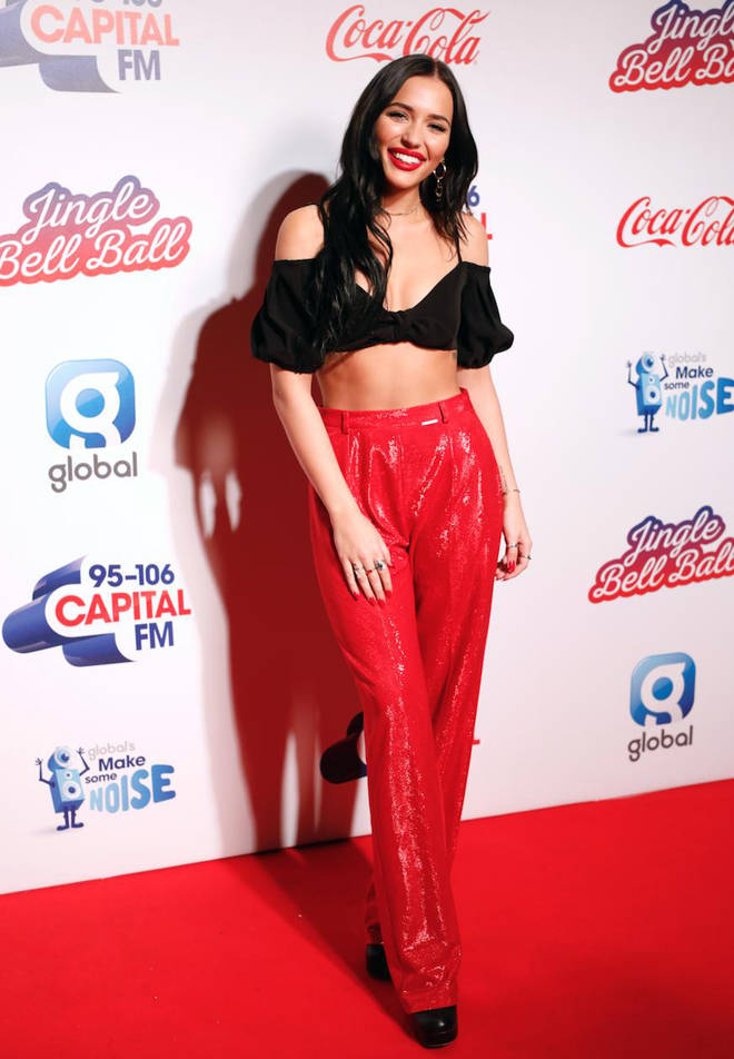 Lennon Stella on the red carpet at the Jingle Bell Ball 2018