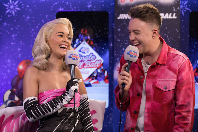 Rita Ora caught up with Roman Kemp backstage at the #CapitalJBB