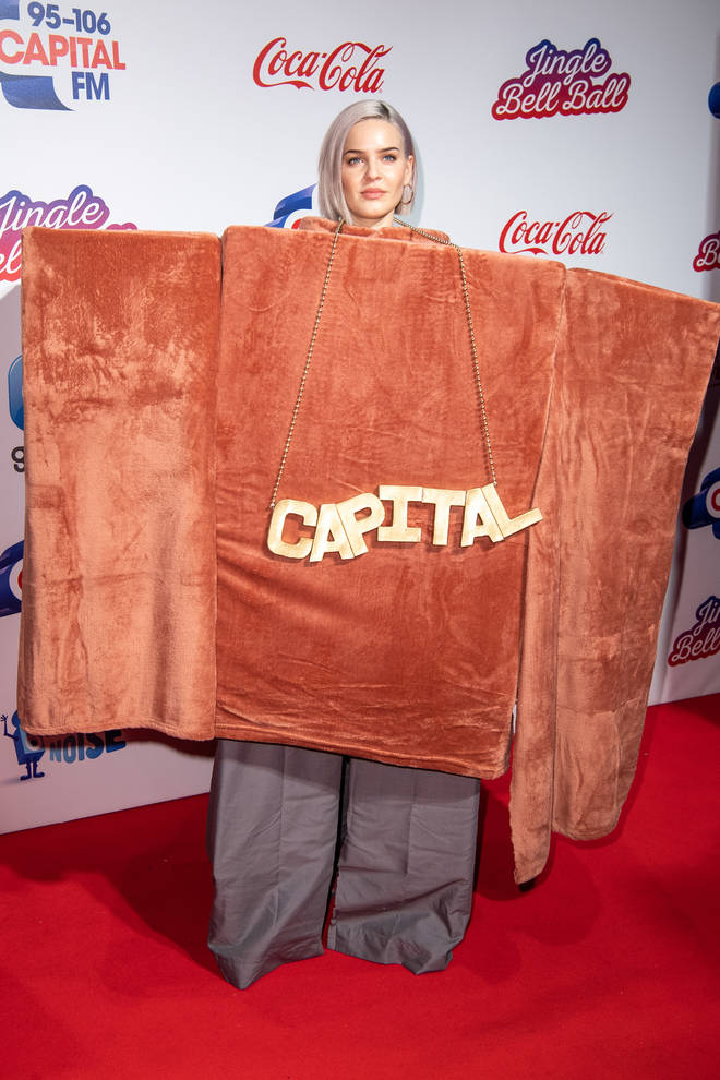 Anne Marie on the red carpet at the Jingle Bell Ball 2018