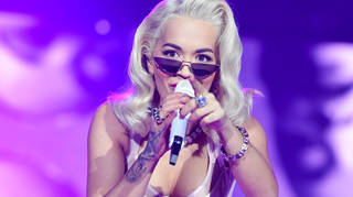 Rita Ora on stage at the Jingle Bell Ball 2018