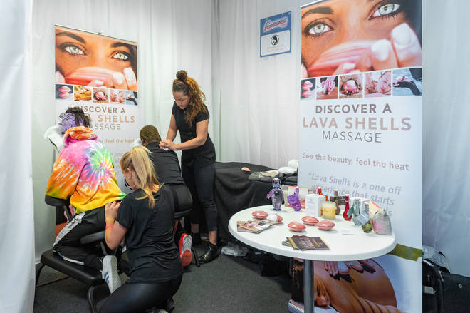 Massages going on backstage at the 2018 Jingle Bell Ball