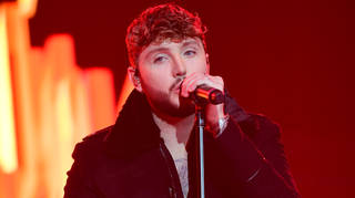James Arthur on stage at the Jingle Bell Ball 2018