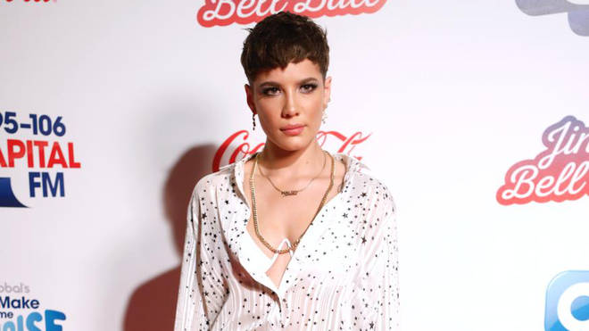 Halsey on the red carpet at the Jingle Bell Ball 2018