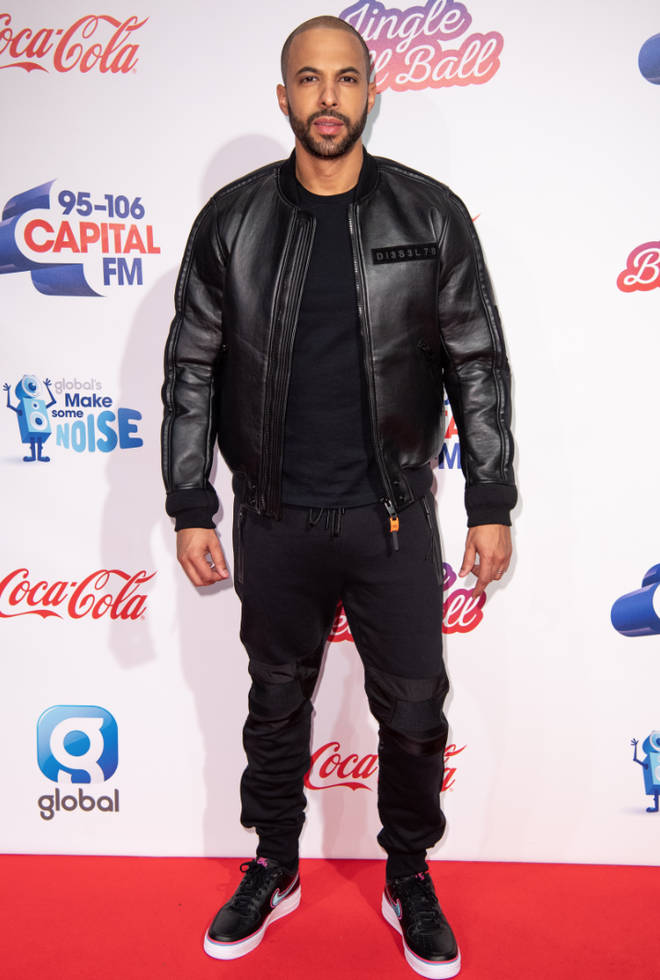 Marvin Humes steps onto Jingle Bell Ball red carpet 2018