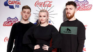 Clean Bandit on the red carpet at the Jingle Bell Ball 2018