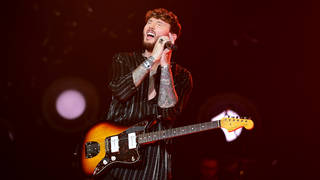 James Arthur performing on stage at the Jingle Bell Ball 2018