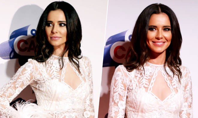 Cheryl's hit the Jingle Bell Ball red carpe in white feathered outfit