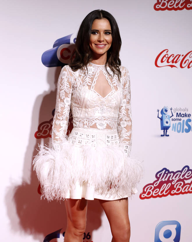 Cheryl on the red carpet at the Jingle Bell Ball 2018