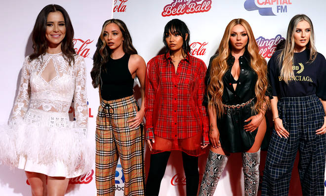 Little Mix & Cheryl step out onto Jingle Bell Ball red carpet