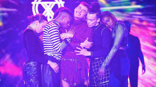Years & Years on stage at the Jingle Bell Ball 2018