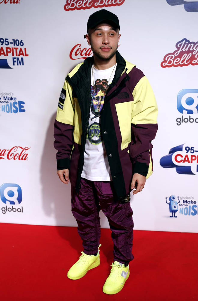 Jax Jones on the red carpet at the Jingle Bell Ball 2018