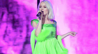Zara Larsson on stage at the Jingle Bell Ball 2018