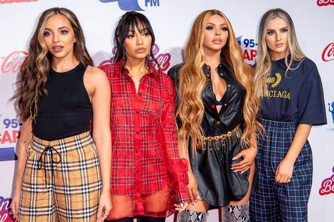 Little Mix on the red carpet at the Jingle Bell Ball 2018