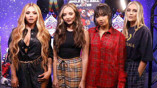Little Mix backstage at the Jingle Bell Ball