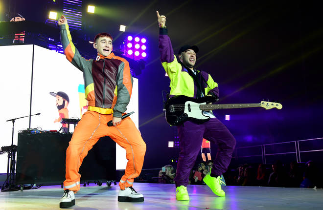Olly Alexander performs with Jax Jones at the Jingle Bell Ball 2018