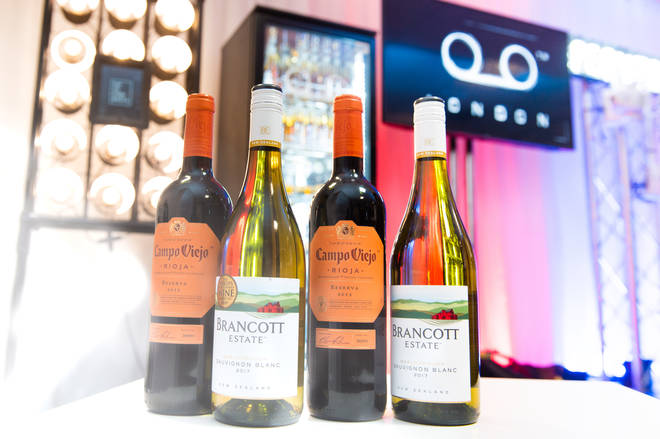 Brancott Estate wine in the green room backstage at the Jingle Bell Ball 2018