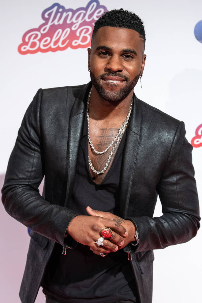 Jason Derulo on the red carpet at the Jingle Bell Ball 2018