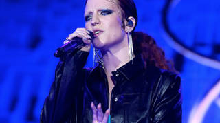 Jess Glynne on stage at the Jingle Bell Ball 2018